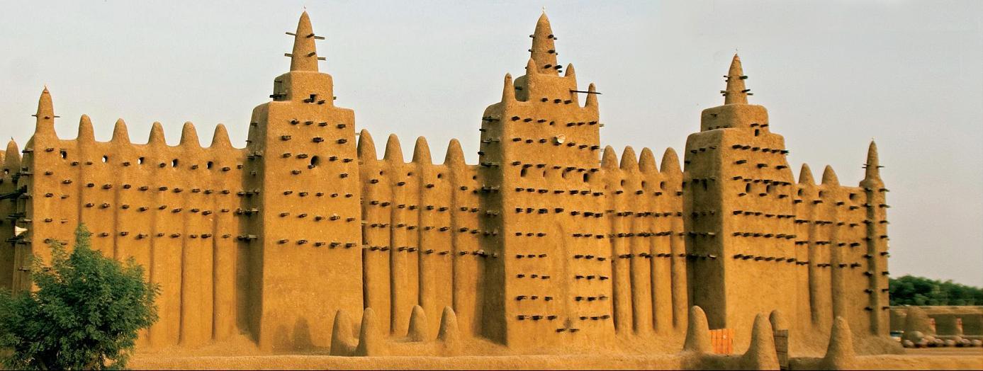 Navštivte dominantu Mali - hliněné město Djenne.