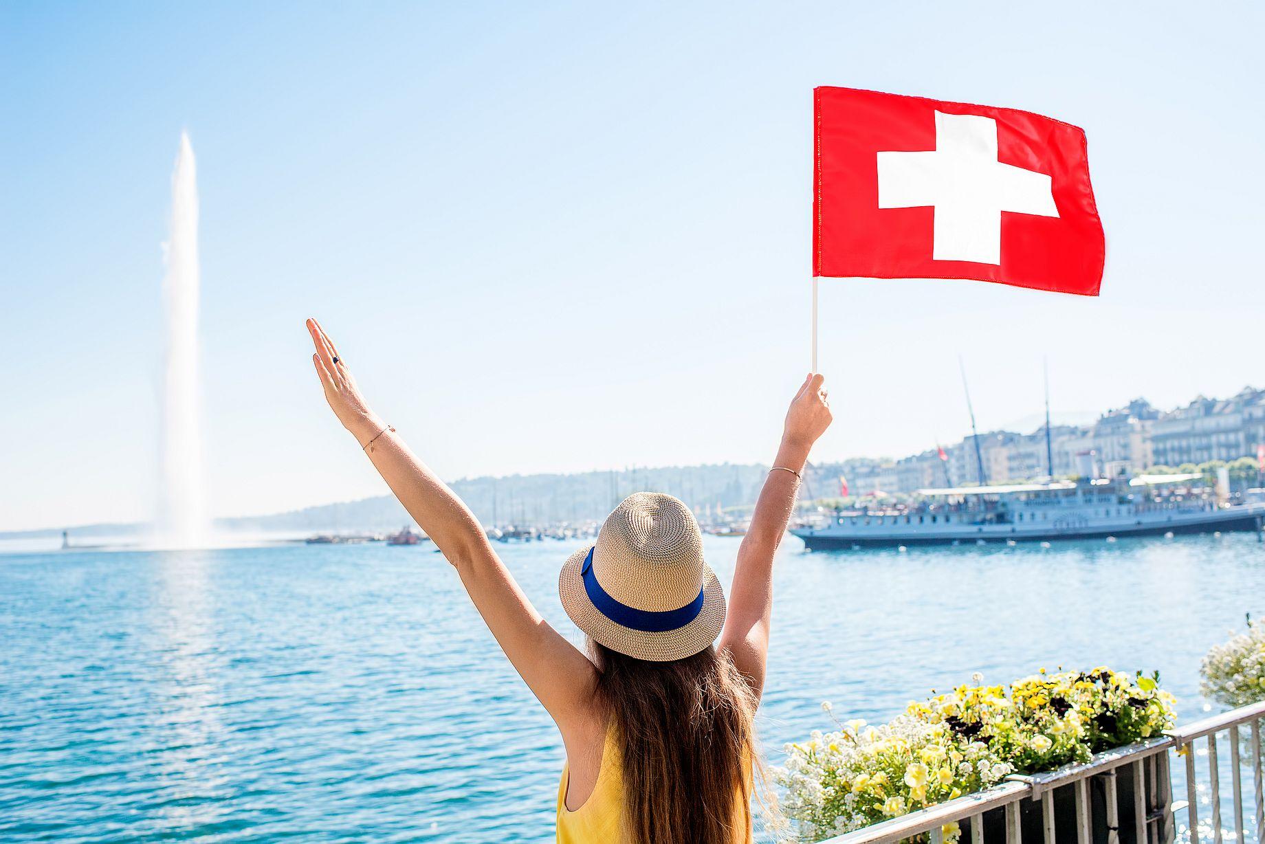 Město Ženeva leží na okraji stejnojmenného jezera.