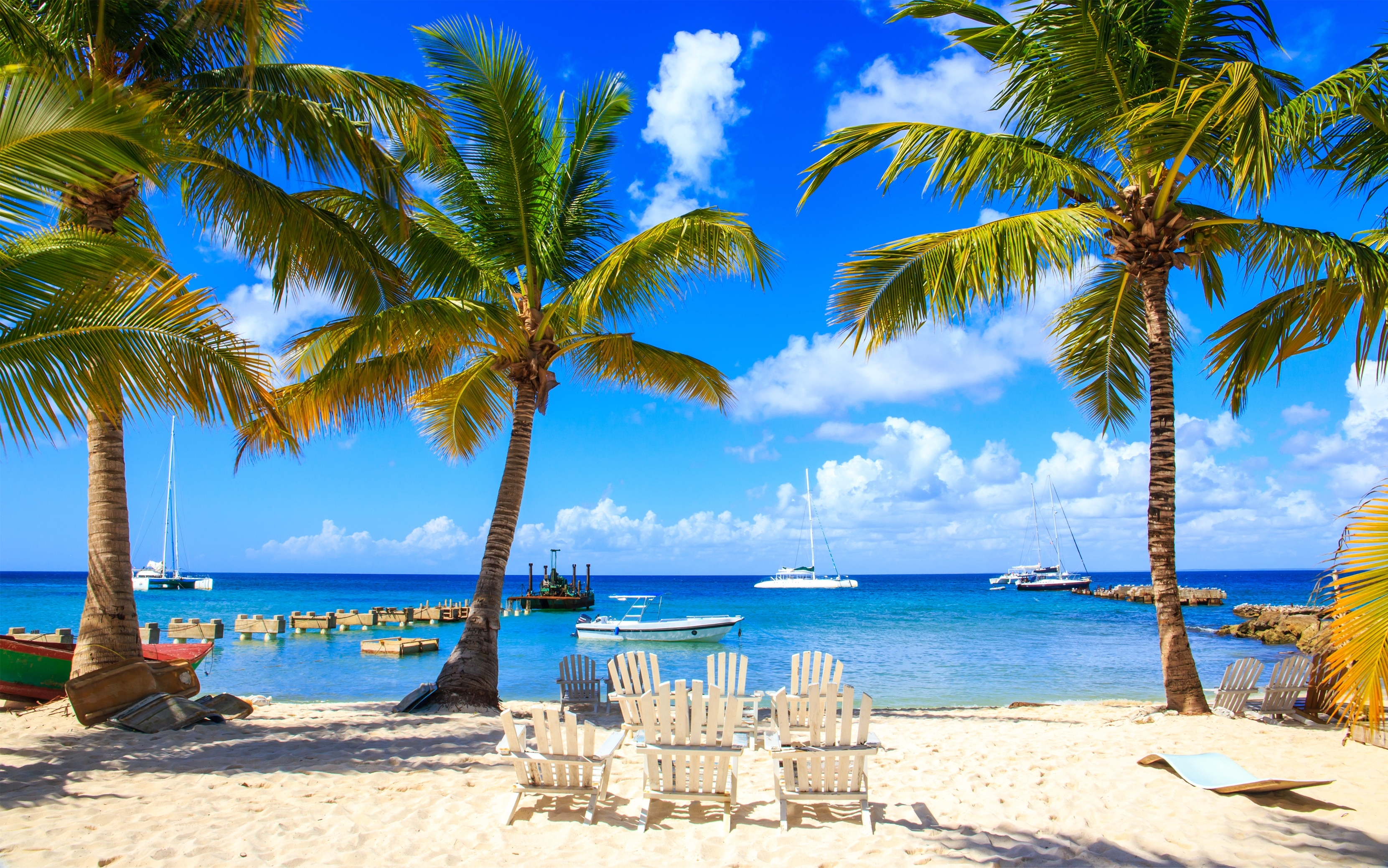 Takhle vypadá ostrov Saona u břehů Dominikánské republiky.