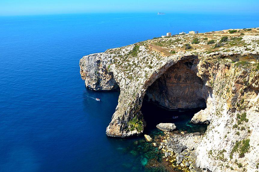 Blue Grotto na Maltě.
