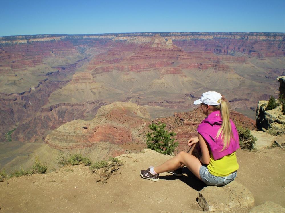 Nádherná vyhlídka v Grand Canyonu. Byla jsme zde v roce 2010.