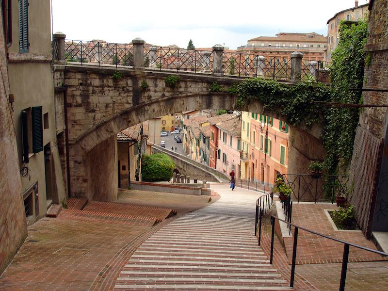 Perugia je město plné romantických zákoutí.