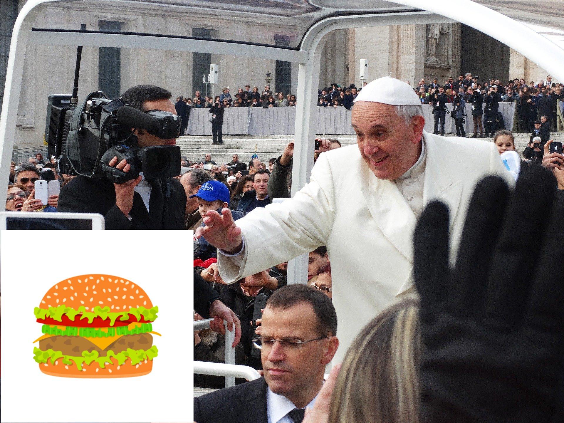 Jak se k hamburgerům postaví papež?