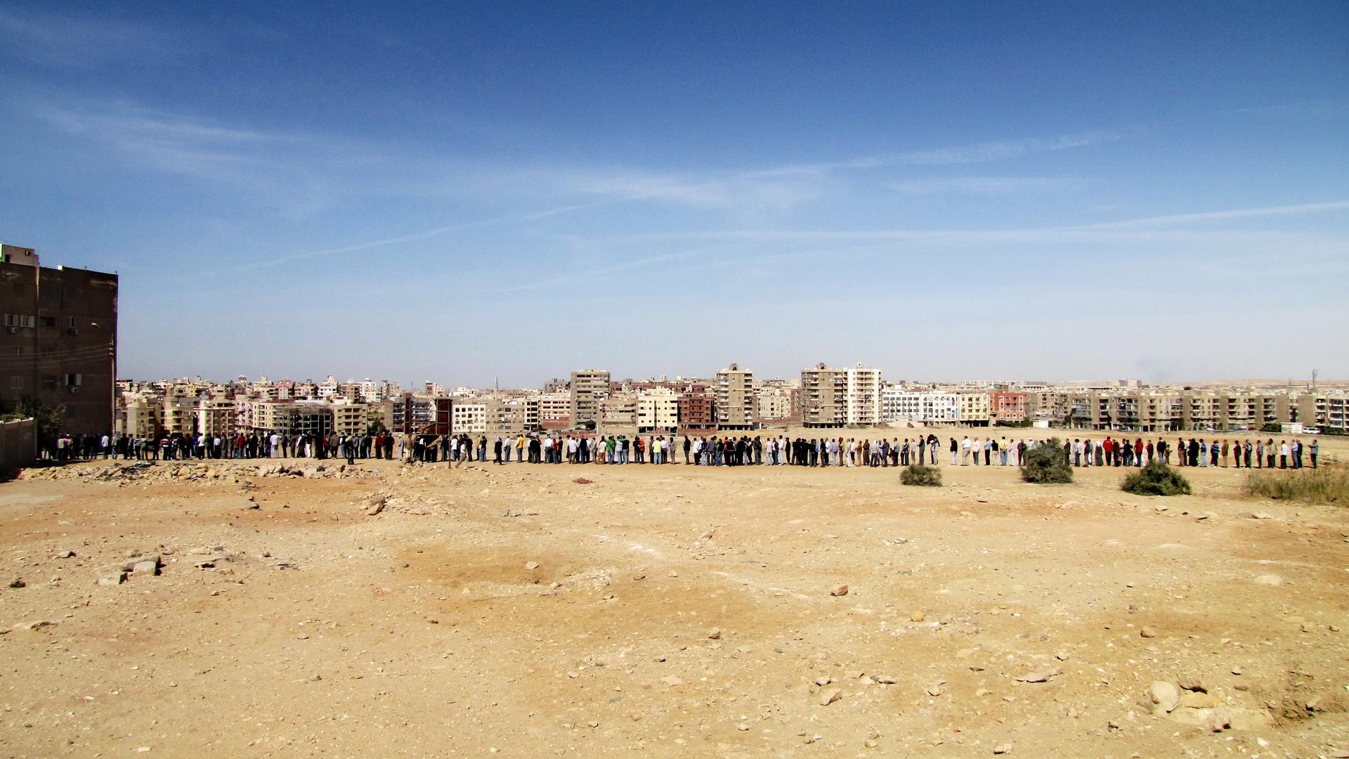 Mokattam - odpadková čtvrť v kopcích na jihovýchodě Káhiry.