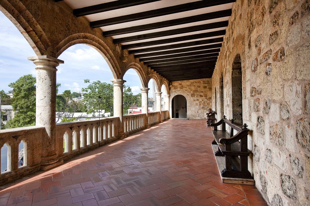 Jedna z nejkrásnějších památek hlavního města Dominikánské republiky - Alczar Colón.