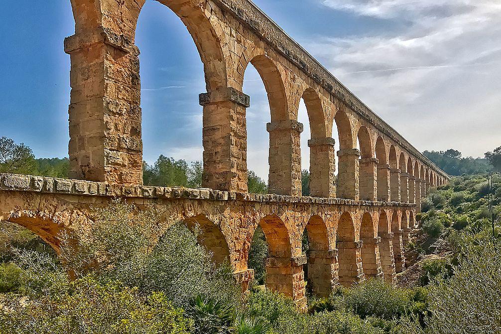 Akvaukt u Tarragony se dochoval v pozoruhodně úžasném stavu.