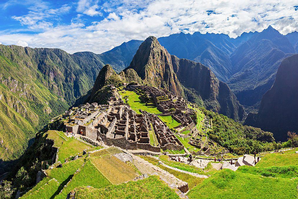 Machu Picchu v Peru.