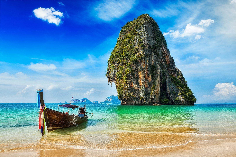 Okolí pláží Krabi skýtá úžasné výjevy.