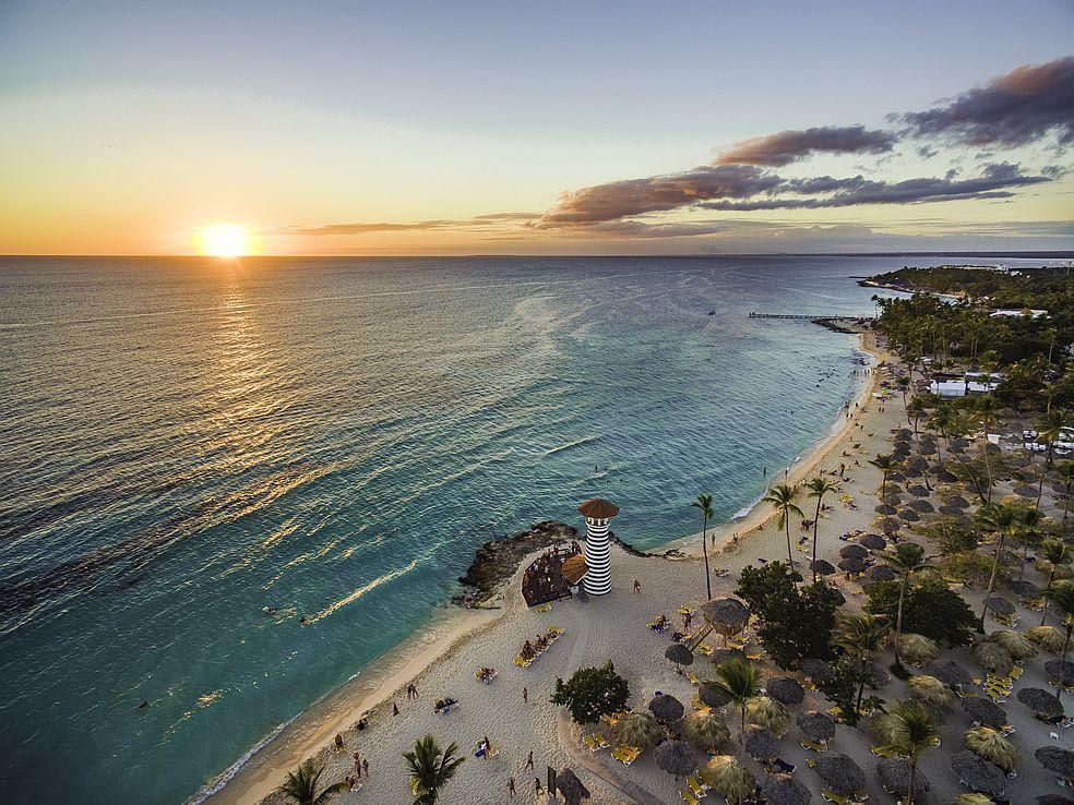 Playa Dominicus v Dominikánské republice poznáte podle typického majáku.