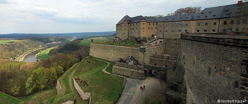 Pevnost Königstein bývala nejsilnější v celém Sasku.