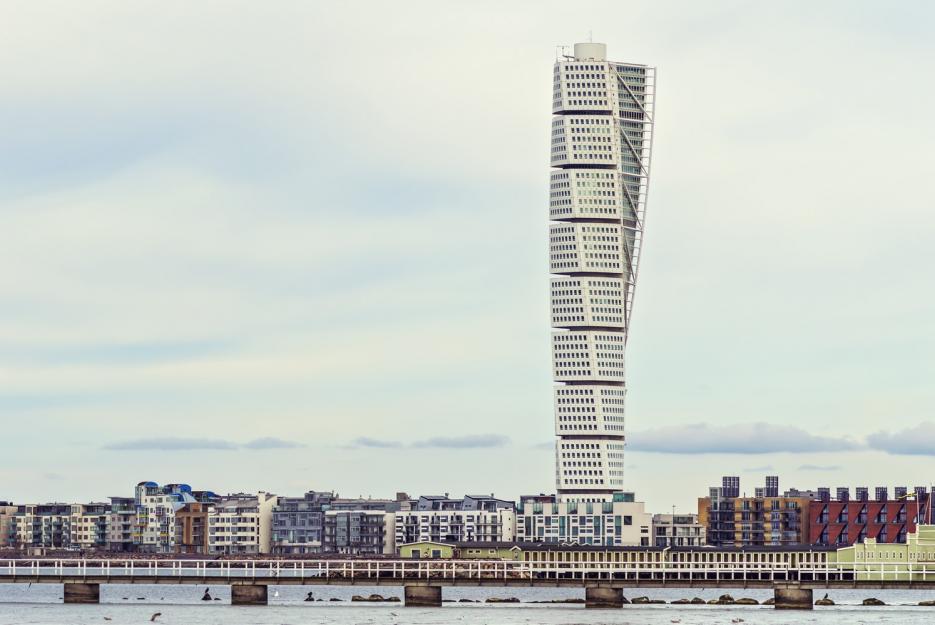 Turning Torso bylo pár měsíců nejvyšší obytnou budovou na světě.